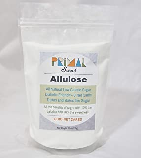 Primal Noms ALLULOSE Sweetener - 12oz | 0 Net Carbs | Keto and Diabetic Friendly | Bakes and Tastes Like Sugar! A Natural Sugar Alternative (12oz)
