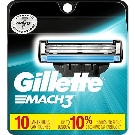 Gillette Mach3 Mens Razor Blade Refills, 10 Count