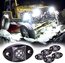 LAMPHUS 6pc Stardust SDRL14 4x4 Offroad LED Rock Light Kit for 4WD Jeep & Truck - Cold White