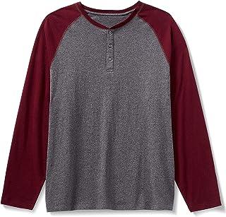 Amazon Essentials Men's Long-Sleeve Henley Shirt fit by DXL