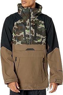 Volcom Men's Brighton Pullover Anarok Hooded Snowboard Jacket
