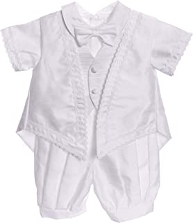 Baby Boy Baptism Outfit - White Classic Christening 5pc Set