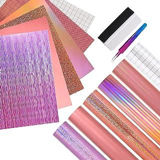 EHDIS Papier Vinyl Adhesif Holographique, 12 x 12 pouces, Vinyle Adhesif pour dans Les Travaux Manuels et La Décoration de...