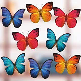 Anti-Collision Window Clings to Prevent Bird Strikes on Window Glass - Butterfly Window Clings (8 per Set)