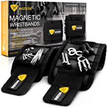 Wizsla Magnetic Wristband for Holding Screws, Tools, Set of 2 Sizes, Cool Tool Gift for..