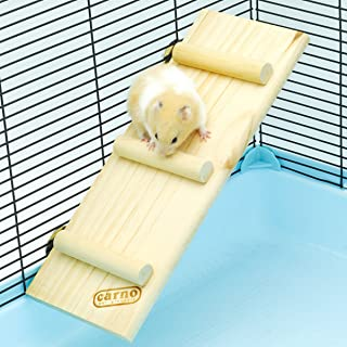 Niteangel Natural Wood Small Animal Climbing Ladder, Hamster Ladder Bridge, 12.5-inch Long and 4.7-inch Wide