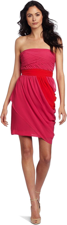 Vince Camuto Women's Strapless Colorblock Grecian Dress