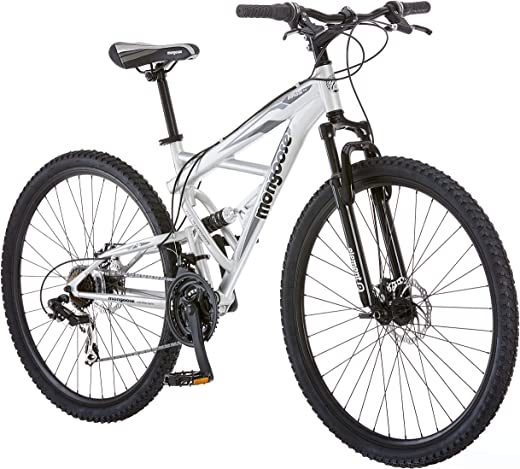 Mongoose Impasse Mens Mountain Bike, 18-inch Frame, 29-inch Wheels with Disc Brakes