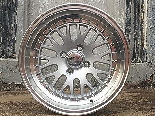 """IPW W310 15x8 4x100 0mm Silver/Machined Wheel Rim 15"""" Inch"""