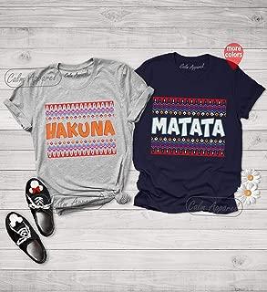 Hakuna Matata T Shirts, Family Vacation Tees, Couples Matching Tops, Holiday Outfits