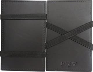 J Crew Magic Wallet for Men Black Leather