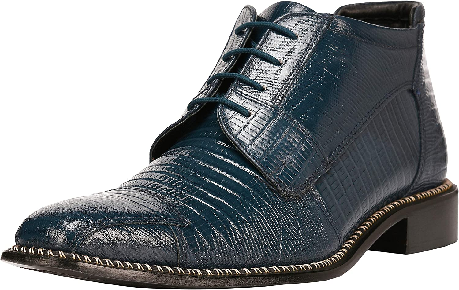 Liberty Men's Genuine Leather Ankle High Time sale Lizard Print Discount mail order Lace U Top