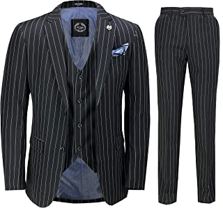 Best mens black and white pinstripe trousers Reviews