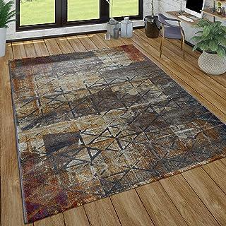 Laagpolig Vloerkleed Woonkamer Abstract Patroon Used-Look Patroonmix Modern Bont, Maat:160x220 cm