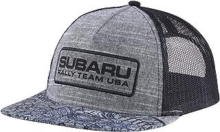 SUBARU Genuine Floral Flatbill Cap Grey Rally Team USA Logo Gear Hat Impreza STI WRX Racing