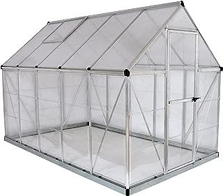Palram HG5510 Hybrid Greenhouse, 6' x 10' x 7', Silver