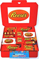 Reese's Large American Candy Hamper 32cm x 23cm | Peanut Butter Chocolate Selection | Big Cup Fast Break Outrageous...