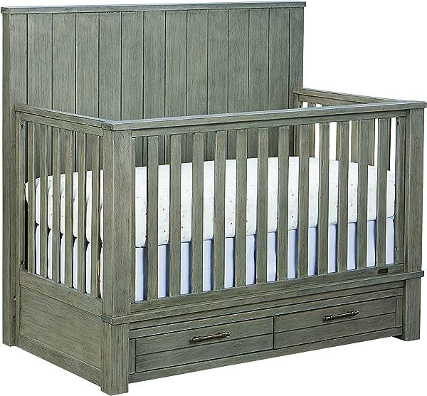 Bassett Baby Kids Everest 4 In 1 Crib Smokey Grey