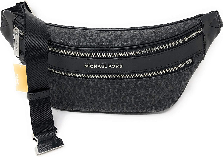 Michael Kors Kenly Medium Crossbody Waist Pack Black Signature ...
