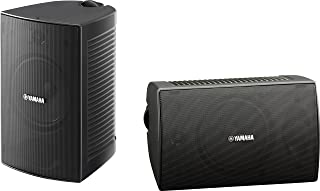 Yamaha Outdoor Speakers with Weatherproof 16cm Woofer and 2-Way bass-Reflex - NSAW294 (Black)