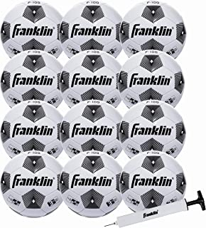 Franklin Sports Soccer Balls - Size 3, Size 4, Size 5 F-100 Soccer Balls - Youth and Adult Soccer Balls - Bulk Soccer Balls with Pump