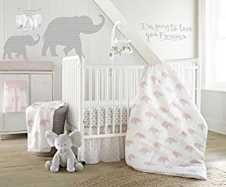 Levtex Home Baby Malawi Blush Elephants 5 Piece Crib Bedding Set