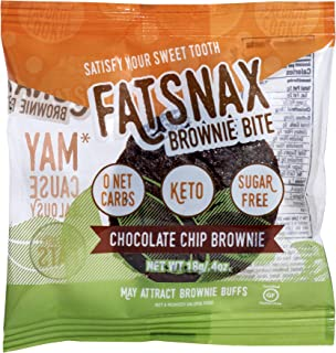Fat Snax Brownie Bites - Low Carb Keto Brownies Packed With Health Fats - Sugar Free & Gluten Free Brownies - Great Tasting Keto Friendly Snacks - 1 Box-16 Brownie Bites