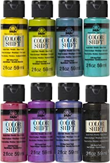FolkArt Color Shift Glossy Metallic Finish Acrylic Craft Paint Set Designed for Beginners and Artists, Non-Toxic Formula P...