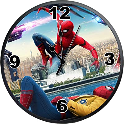 Indian Tag MDF Round Wall Clock Spider-Man (11 X 11 Inches)