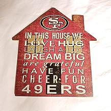 NFL San Francisco 49ers Unisex San Francisco 49ers House Sign, Team Color, 12 inch