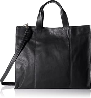 (Black) - Piel Leather Carry-All Tote, Black, One Size