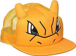 Bioworld Pokemon Charizard Big Face Trucker Snapback Hat with Ears Orange 507689bb34e8