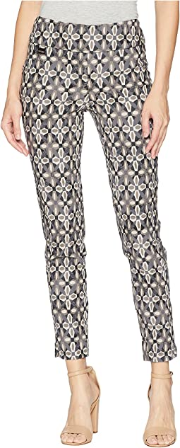 Lotus Medallion Jacquard Ankle Pants