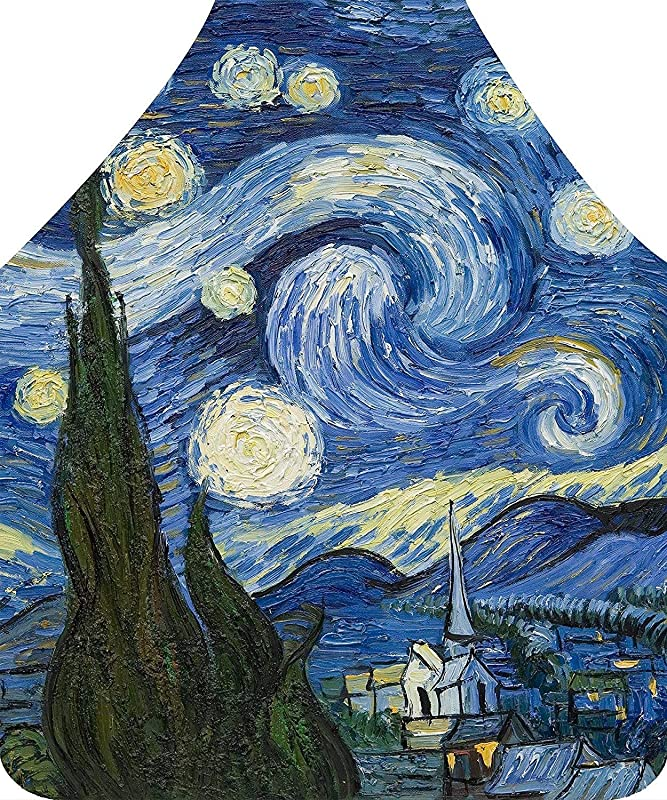 Axe Sickle Van Gogh Painting The Starry Night Apron Kitchen Apron For Mom Women Girlfriend