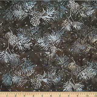 Hoffman Fabrics Hoffman Bali Batik Pine Cone Needles Brown Sugar Fabric