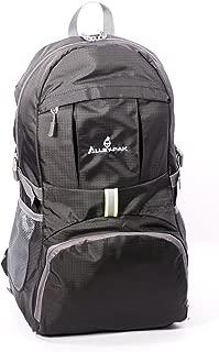 Alley-Pak Lightweight Travel Hiking Waterproof Daypack 35L with Reflector Black or Orange Color Backpack