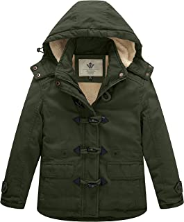Girl's Thicken Jacket Cotton Coat with Removable Hood