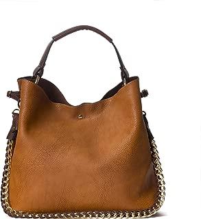 Large Handbag Classic Top Handle Vegan Faux Leather Shoulder Bag For Women With Pouch