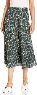 BCBG Max Azria Women's Floral Print A-Line Midi Skirt
