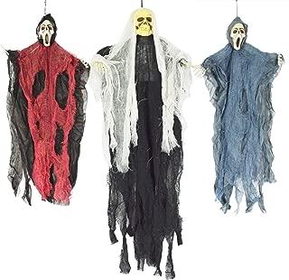 JOYIN Set of Three Hanging Skeleton Ghost Halloween Decorations(One 35