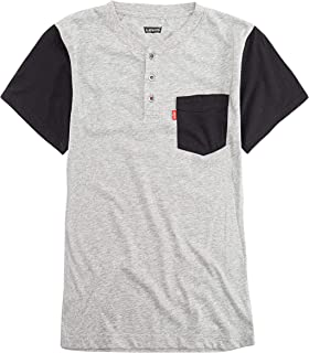 Levi's Boys' One Pocket Henley T-Shirt