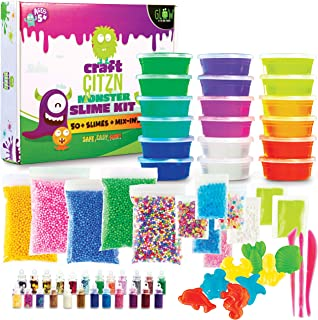 DIY Slime Making Kit - Perfect Arts and Crafts for Girls & Boys - Best Slime Kit for Glow in The Dark Slime w Slime Suppli...