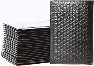 Empire Mailers #00 5 x 10-inch Black Padded Envelopes, Self Seal Mailers, Bubble-Lined Shipping Envelopes, Mail-Approved Poly Bubble Mailers, Self-Sealed Mailing Packages, Pack of 25