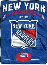 Northwest NHL New York Rangers 60x80 Raschel Inspired DesignBlanket, Team Colors, One Size