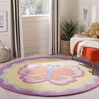 Safavieh Safavieh Kids Collection SFK394A Handmade Multi and Pink Cotton Round Area Rug (4' Diameter)