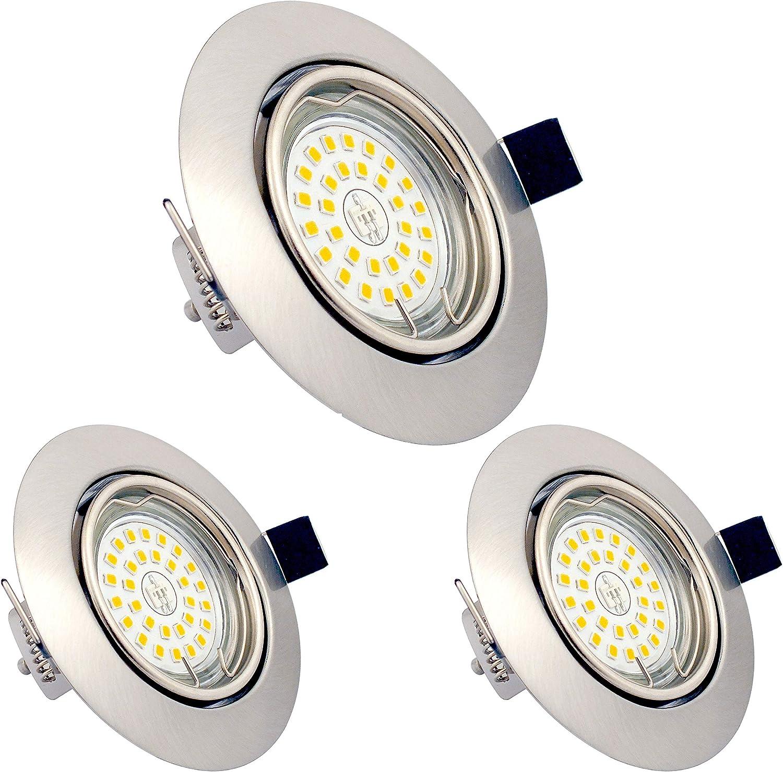 LED Einbaustrahler dimmbar ohne Dimmer GU20 20W Warmweiß 20K schwenkbar  Einbauleuchten 20LM mit 20RA als CRI Runder Zinklegierungr 20v LED Spot  ...