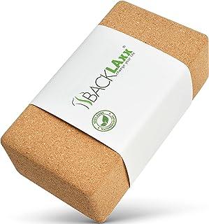 BACKLAxx® Yogablok van kurk - 100% natuurlijk yogablok duurzaam - yogablok huidvriendelijk en ecologisch geproduceerd inc...