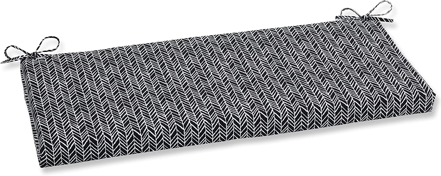 Herringbone Night Wicker Loveseat Cushion