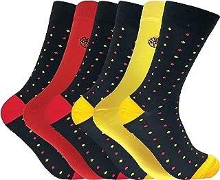 6 pares calcetines hombre bambu divertidos colores en 5 estilos 40-45 eur