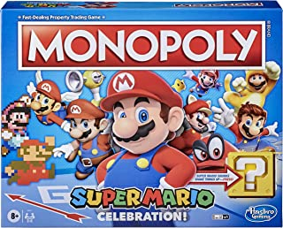Monopoly Super Mario Celebration Edition Board Game - For Super Mario Fans - With Video Game Sounds Effects - 2 To 6 Playe...
